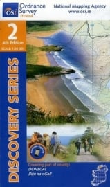 Wandelkaart Ordnance Survey / Discovery series | Donegal N Cent 2 | ISBN 9781907122422