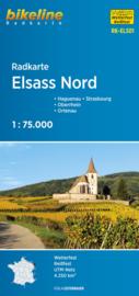 Fietskaart Elsass Nord - Elzas Noord | Bikeline | ISBN 9783850003360
