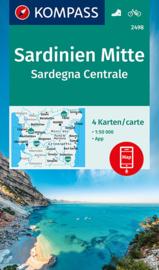 Wandelkaart Sardinië Midden | Kompass 2498 | 1:50.000 | ISBN 9783990449318
