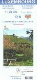 Wandelkaart Sandweiler / Grevenmacher | Topografische dienst Luxembourg 08 | ISBN 5425013060448