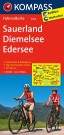 Fietskaart Sauerland - Diemelsee - Edersee | Kompass 3064 | 1:70.000 | ISBN 9783850265782
