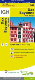Wegenkaart - Landkaart - fietskaart Dax - Bayonne - Oloron Ste. Marie - Pamplona - Pyreneeën | IGN 166 | 1:100.000 | ISBN 9782758543831