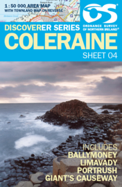 Wandelkaart Coleraine | Discovery Northern Ireland 04 - Ordnance survey | 1:50.000 | ISBN 9781905306930