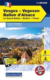 Wandelkaart Vogesen - Ballon d'Alsace | Kümmerly & Frey 03 | 1:35.000 | ISBN 9783259007273