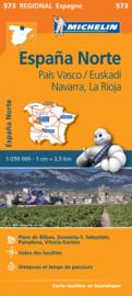 Wegenkaart Pais Vasco - Navarra - Euskadi | Michelin 573 | ISBN 9782067184176
