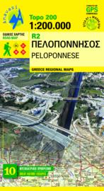 Wegenkaart Peloponnese R2 | Anavasi Maps | 1:200.000 | ISBN 9789608195639