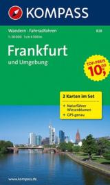 Wandelkaart Frankfurt und Umgebung   Kompass 828   1:50.000   ISBN 9783850261890