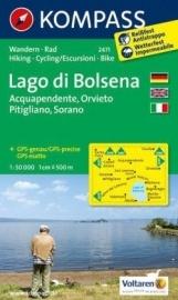 Wandelkaart Lago di Bolsena |  Kompass 2471 | 1:50.000 | ISBN 9783850266109