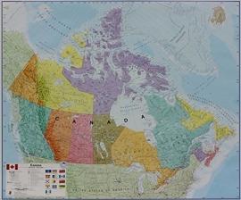 Wandkaart Canada -  papier | Maps International | 1:4,85 miljoen | ISBN 9781904892380