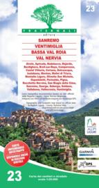 Wandelkaart Sanremo, Ventimiglia, Bassa Val Roia, Val Nervia | Fraternali editore 23 | 1:25.000 | ISBN 9788897465294