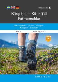 Wandelkaart Börgefjell - Kittelfjäll - Fatmomakke -  outdoor fjall 07 | Norsteds | 1:75.000 | ISBN 9789113105048
