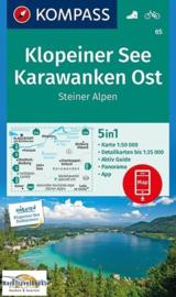 Wandelkaart Klopeiner See - Karawanken - Ost | Kompass 65 | 1:50.000 | ISBN 9783990443835