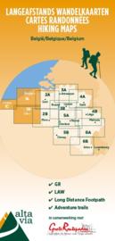 Wandelkaart West-Vlaanderen en Pas de Calais | Alta Via 1 GR | 1:85.000 | ISBN 9789082844344