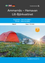 Wandelkaart Ammarnäs - Hemavan - Lill - Björkvattne - outdoor fjall 06 | Norsteds | 1:75.000 | ISBN 9789113105031