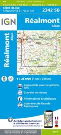 Topo-, wandelkaart Réalmont / Albant |  IGN 2342SB | ISBN 9782758534211