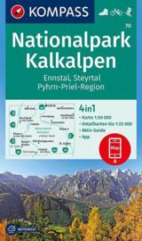 Wandelkaart Kalkalpen NP | Kompass 70 | 1:50.000 | ISBN 9783990444528