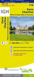 Wegenkaart - Fietskaart Paris - Chartres | IGN 118 | ISBN 9782758543664
