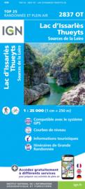 Wandelkaart Thueyts Lac D`Issarles  | Ardèche | IGN 2837 OT - IGN 2837OT