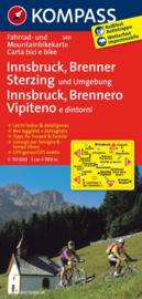 Fietskaart Innsbruck - Brenner - Sterzing   Kompass 3411   1:70.000   ISBN 9783850263405