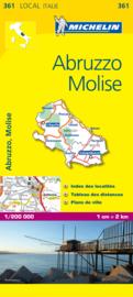 Wegenkaart Abruzze et Molise nr. 361   Michelin   1:200.000   ISBN 9782067127234