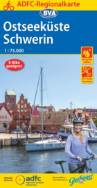 Fietskaart Ostseeküste Schwerin | ADFC - BVA regionalkarte | 1:75.000 | ISBN 9783870739744