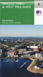 Wegenkaart Wales & West Midlands | Ordnance Survey road map 6 | 1:250.000 | ISBN 9780319263785