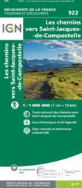 Wandelkaart Santiago de Compostela  routes - Overzichtskaart | IGN | 1:1,1 miljoen | ISBN 9782758550761