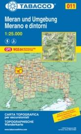 Wandelkaart Merano e dintorni / Meran und Umgebung | Tabacco 11 | 1:25.000 | ISBN 9788883150111