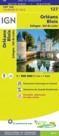 Wegenkaart - Fietskaart Orleans - Blois | IGN 127 | ISBN 9782758547532