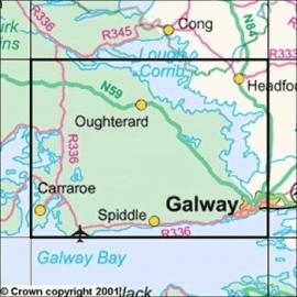 Wandelkaart Ordnance Survey / Discovery series   Galway 45   ISBN 9781907122866