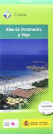 Wandelkaart - topografische kaart Rías de Pontevedra y Vigo | CNIG | ISBN 9788441629806