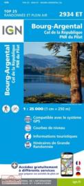 Wandelkaart Bourg-Argental - Col de la République | PNR du Pilat Ardéche | IGN 2934 ET -IGN 2934ET