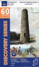 Wandelkaart Ordnance Survey / Discovery series | Kilkenny / Laois / Tipperary 60 | ISBN 9781907122590