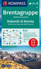 Wandelkaart Gruppo di Brenta | Kompass 73 | 1:50.000 | ISBN 9783990449325