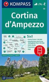 Wandelkaart Cortina D`Ampezzo | Kompass 55 | 1:50.000 | ISBN 9783990444795