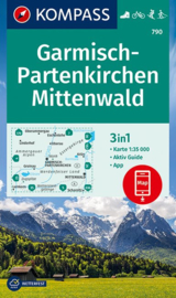 Wandelkaart Garmisch Partenkirchen / Mittenwald | Kompass 790 | 1:35.000 | ISBN 9783990448922