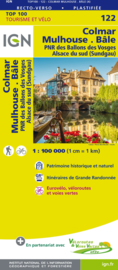 Wegenkaart - Fietskaart Colmar - Mulhouse - Bale | IGN 122 | ISBN 9782758543688
