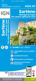 Wandelkaart Sartene, Montagne de Cagna, PNR de la Corse | Corsica -  IGN 4254OT - 4254 OT