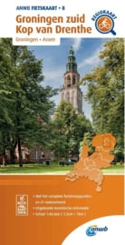 Fietskaart Groningen zuid - Kop van Drenthe   ANWB 8   1:66.666    ISBN 9789018047092