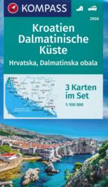 Wegenkaart - Fietskaart - Waterkaart Kroatië, Dalmatische Kust | Kompass 2900 | ISBN 9783990446383