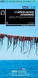 Wandelkaart Arki - Lipsi - Aghathonisi | Terrain Maps 334 | 1:20.000 |  ISBN 9789606845819