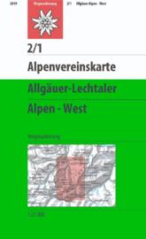Wandelkaart Allgäuer - Lechtaler Alpen, West 2/1 | OAV | 1:25.000 | ISBN 9783928777131