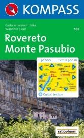 Wandelkaart Rovereto - Monte Pasubio | Kompass 101 | 1:50.000 | 9783854911036