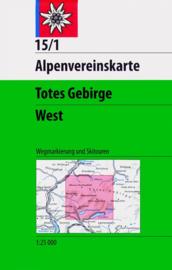 Wandelkaart Totes Gebirge West 15/1 | OAV |  1:25.000 | ISBN 9783928777292