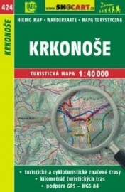Wandelkaart Tsjechië -  Krkonoše - Reuzengebergte | Shocart 424 | ISBN 9788072247028