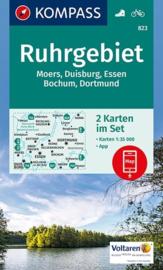 Wandelkaart Ruhrgebiet - 2 delige set | Kompass 823 | 1:35.000 | ISBN 9783990442432