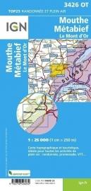 Wandelkaart Mouthe, Metabief, Le Mont d`Or | Jura |  IGN 3426OT - IGN 3426 OT | ISBN 9782758526032
