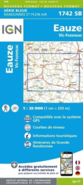 Topo-, wandelkaart Eauze / Vic-Fezensac |  IGN 1742SB | ISBN 9782758535515