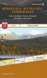 Wandelkaart Börgefjell - Kittelfjäll - Fatmomakke -  outdoor fjall 07 | Norsteds | 1:75.000 | ISBN 9789113068190