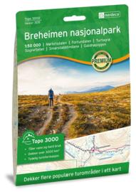 Wandelkaart Breheimen 3011 | Nordeca | 1:100.000 | ISBN 7046660030110